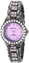 Swarovski Armitron Women's 75/3689PMDG Pink Crystal Accented Gunmetal Bracelet Watch
