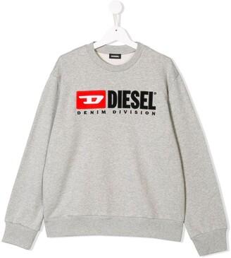 Diesel TEEN logo print sweatshirt