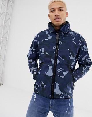 G Star G-Star Strett Hooded Gym Bag Jacket-Blue