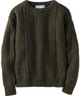 Uniqlo Women Idlf Cable Boat Neck Sweater