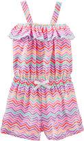 Osh Kosh Oshkosh Sleeveless Print Cotton Romper - Preschool Girls 4-6x