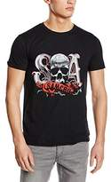 Sons of Anarchy Women's Duo Tone SOA Thorns Slim Fit Short Sleeve T-Shirt