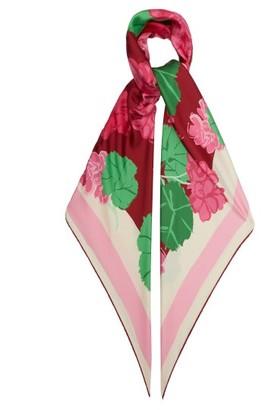 Gucci X Ken Scott Floral-print Silk Scarf - Pink Multi
