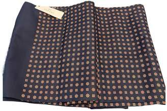 De Fursac Navy Silk Scarves