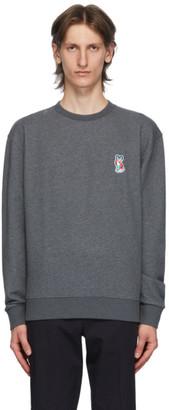 MAISON KITSUNÉ Grey ACIDE Fox Patch Sweatshirt
