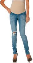 Motherhood Celebrity Pink Jeans Secret Fit Belly® Destructed Skinny Leg Maternity Jeans