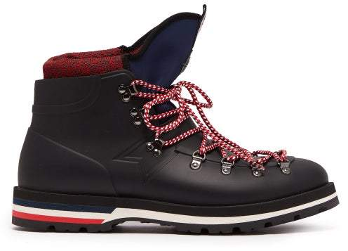 Moncler Henoc Tri Colour Boots - Mens - Black Multi