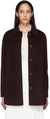 Acne Studios Burgundy Double Faced Overshirt