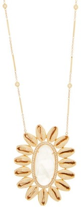 Jacquie Aiche Mufasa Diamond, Moonstone & Gold Necklace - Crystal