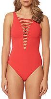 Bleu Rod Beattie Knotty But Nice Lattice One-Piece Swimsuit