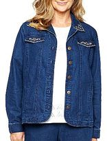 Alfred Dunner Embellished Denim Jacket