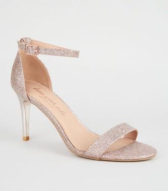 New Look Glitter 2-Part Stiletto Heels