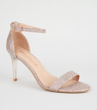 New Look Glitter 2 Part Stiletto Heels