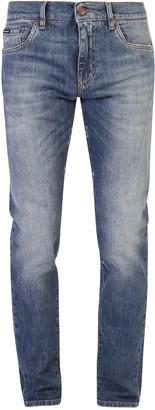 Dolce & Gabbana Straight Leg Pocket Patch Jeans