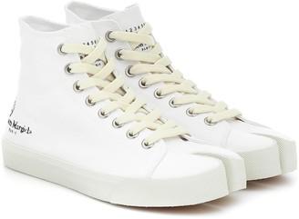 Maison Margiela Tabi canvas high-top sneakers