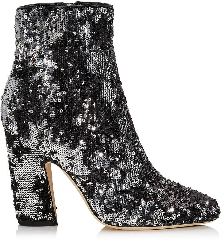 a682da849d9b Black Ankle Boot With Silver Heel - ShopStyle