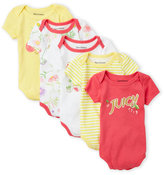 Juicy Couture Newborn Girls) 5-Pack Logo Bodysuits