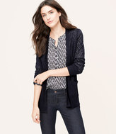 LOFT Sheer Open Cardigan