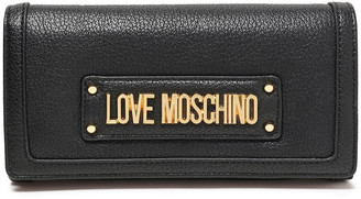 Love Moschino Logo-embellished Faux Leather Continental Wallet