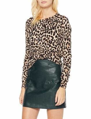 New Look Women's Seamed PU Skirt