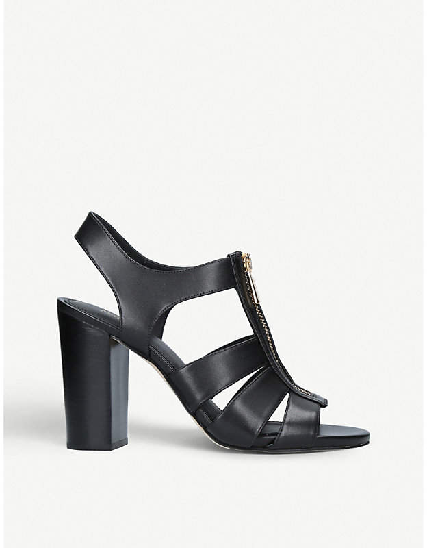 MICHAEL Michael Kors Damita zip-up leather sandals