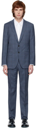 BOSS Blue Check Stretch Tailoring Suit