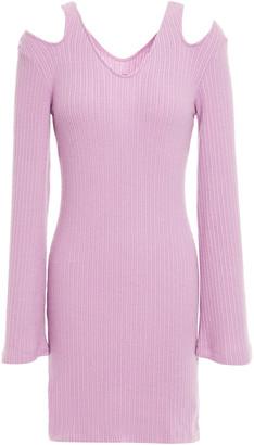 Enza Costa Cutout Ribbed Modal-blend Mini Dress
