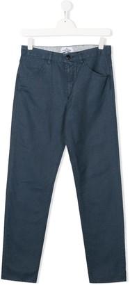 Stone Island Junior straight leg washed trousers