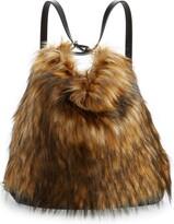 Sondra Roberts Convertible Faux Fur Backpack