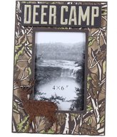 Young's Inc 13081 Deer Camp 9.25-Inch Wood Picture Frame for 4 by 6-Inch Photo