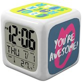 2017 Limited Design Digital Alarm Clock - Upgraded Display Model for Adults, Kids and Teens - Today Get 100% Warranty - Battery Operated Clocks for Home & Travel, Works for Heavy Sleepers