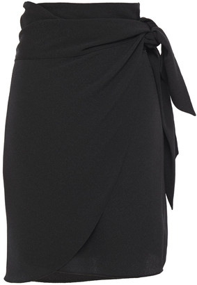Vanessa Bruno Hammered-crepe Mini Wrap Skirt