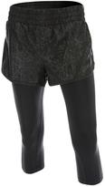 2XU Black Embossed Flex Layered Capri Leggings