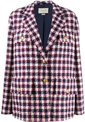 Gucci oversized check blazer