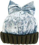 Federica Moretti Bow beanie - women - Polyester/Spandex/Elastane/Virgin Wool - One Size