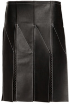 Alexander Wang Low Waisted Pleated Skirt With Laser Cut Logo Panels
