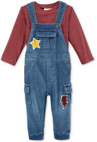 First Impressions Baby Boys' 2-Pc. Long-Sleeve T-Shirt & Overall Set, Only at Macy's