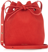 Mansur Gavriel Leather-lined Mini suede bucket bag