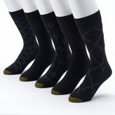 Gold Toe GOLDTOE 5-pack Patterned & Solid Dress Socks - Men