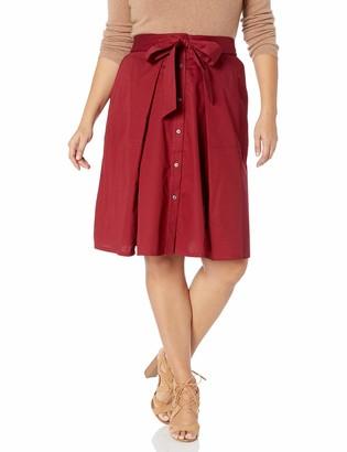 Rachel Roy Women's Plus Size Neo Tie Front Skirt