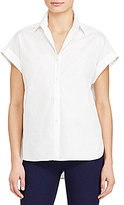 Lauren Ralph Lauren Rolled-Cuff Cotton Shirt