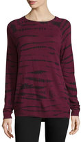 Autumn Cashmere Tie-Dyed Cashmere Raglan-Sleeve Sweater