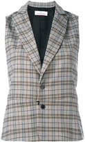A.F.Vandevorst checked sleeveless blazer