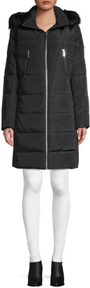MICHAEL Michael Kors Faux Fur-Trim Down Puffer Coat
