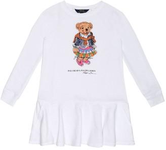 Polo Ralph Lauren Kids Printed cotton-blend dress