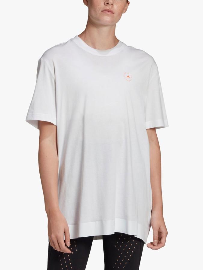 adidas by Stella McCartney Cotton T-Shirt, White