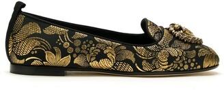 Dolce & Gabbana Devotion jacquard-effect ballerina shoes