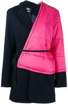 Jacquemus layered asymmetric belted coat - women - Polyamide/Polyester/Acetate/Wool - 36