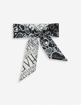 Chopard Happy Hearts printed silk scarf