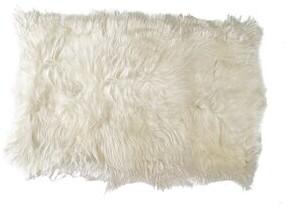 Loon Peak Bickley Handmade Sheepskin White Area Rug
